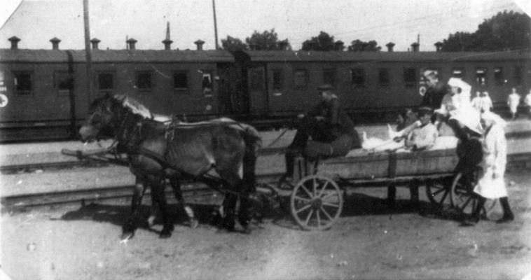 Повозка с ранеными